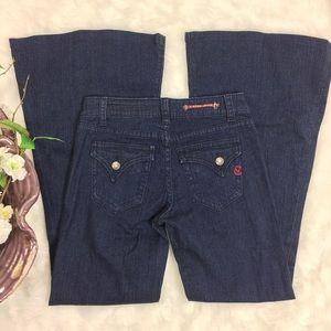 Vigoss Flare Jeans Size 1/2 26 Dark Wash